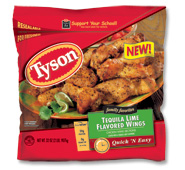 Tyson Tequila Lime Flavored Wings