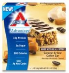 Low Carb Snacks - Atkins Advantage Caramel Creme Coffee Bar