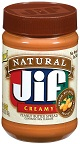 Low Carb Foods - Jif Natural Creamy Peanut Butter